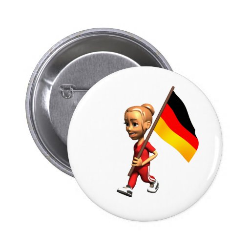 German Girl Pinback Buttons