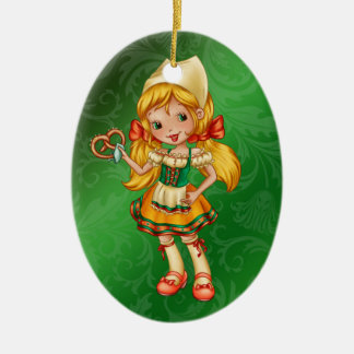 German Girl - Oktoberfest - SRF Ceramic Ornament