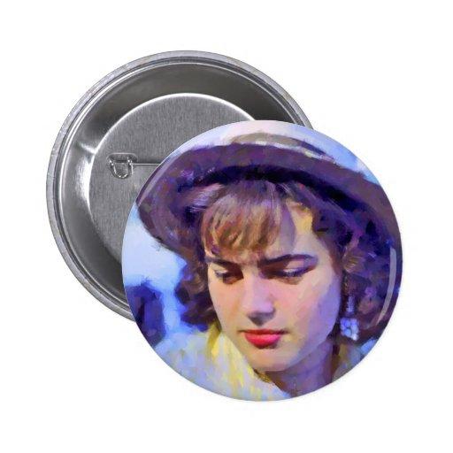 """""""German Girl on the Rhine"""" Pin"""