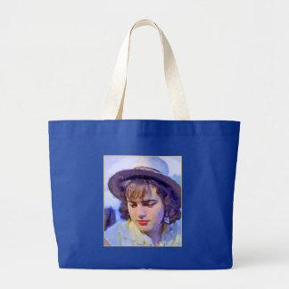 """German Girl on the Rhine"" Jumbo Tote Canvas Bag"