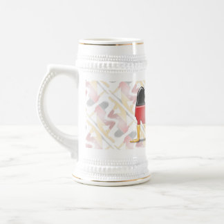 German Girl Silhouette Flag Beer Stein