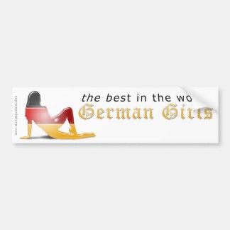 German Girl Silhouette Flag Bumper Sticker