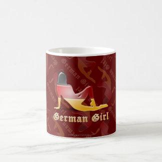 German Girl Silhouette Flag Coffee Mug