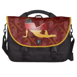 German Girl Silhouette Flag Laptop Commuter Bag