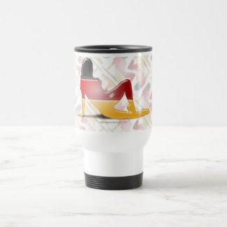 German Girl Silhouette Flag Travel Mug