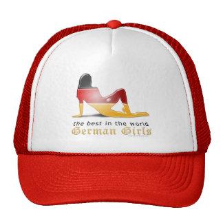 German Girl Silhouette Flag Trucker Hat