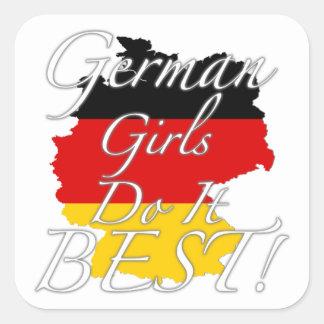 German Girls Do It Best! Square Sticker