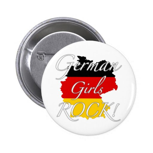 German Girls Rock! Pinback Button