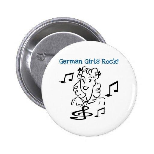 German Girls Rock Pinback Buttons