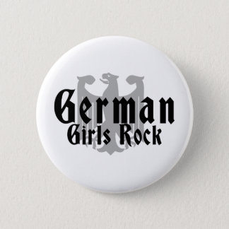 German Girls Rock Pinback Button