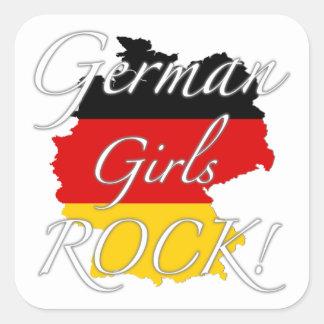 German Girls Rock! Square Sticker