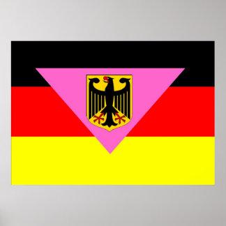 German GLBT Pride Flag Print