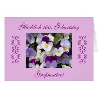 German: grandma's 100th birthday card
