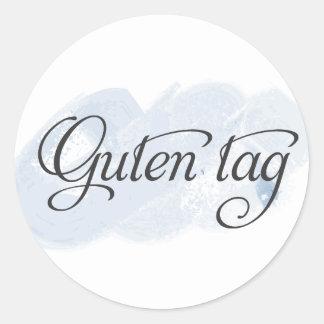 German - Guten Tag Classic Round Sticker