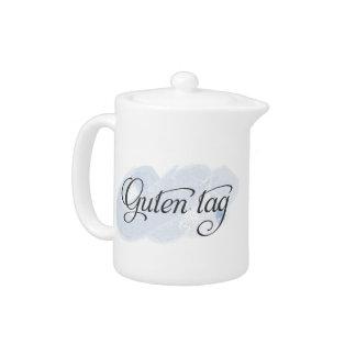 German - Guten Tag Teapot