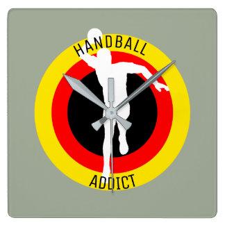 GERMAN HANDBALL PLAYER SQUARE WALL CLOCK