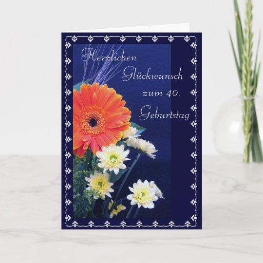 German Happy 40th 50th Birthday Card Zazzle