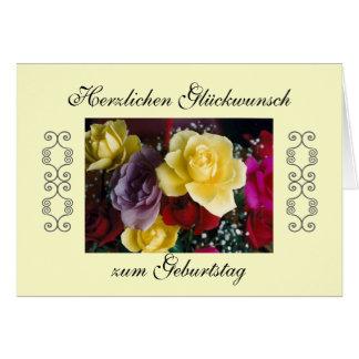 German: Happy Birthday! Card