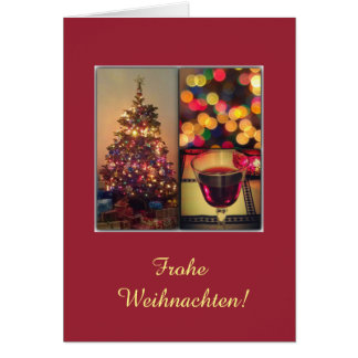 German: Happy Holidays lights Card