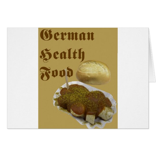 German Health Food (currywurst) Card