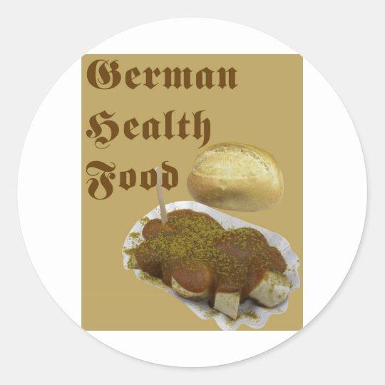 German Health Food (currywurst) Classic Round Sticker