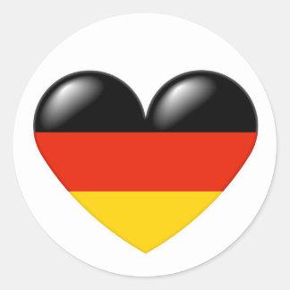 German heart sticker - Deutsche Herz