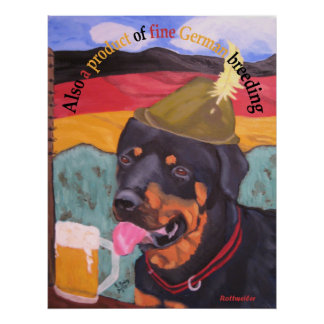 German Heritage Dog Poster