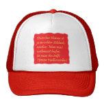 German humor (quotation of Dieter Hallervorden) Mesh Hats