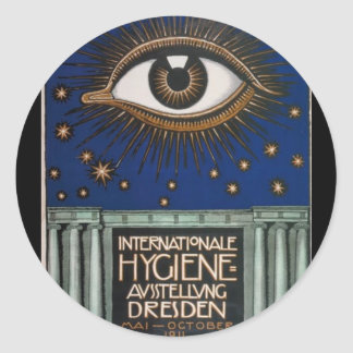 German Hygiene Eye Classic Round Sticker