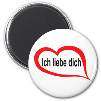 German I love you 2 Inch Round Magnet