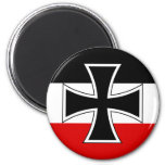 German Imperial Flag 2 Inch Round Magnet