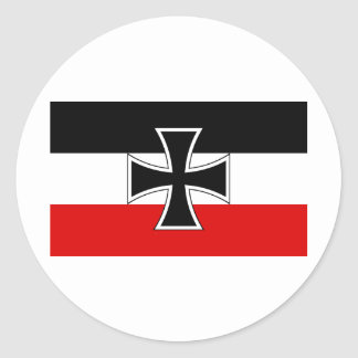 German Imperial Flag Classic Round Sticker