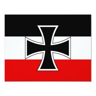 German Imperial Flag 4.25x5.5 Paper Invitation Card