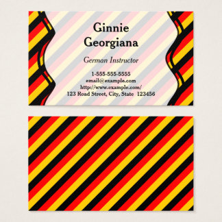 German Instructor Business Card