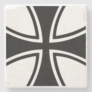 German Iron Cross Marble Stone Coaster