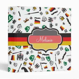 German items with Flag of Germany 3 Ring Binder