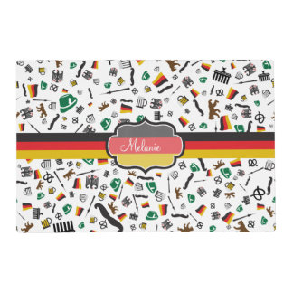 German items with Flag of Germany Placemat