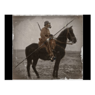 German Lancer on Horseback Postcard