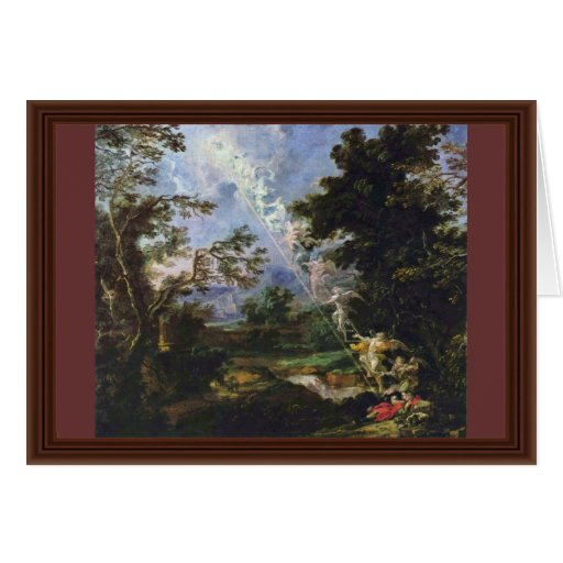 """German """"Landscape With The Dream Of Jacob"""", """" Card"""