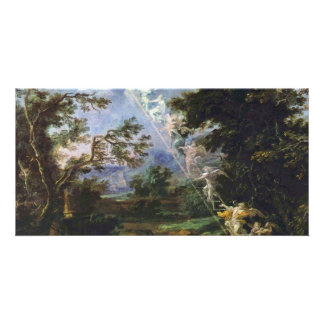 "German ""Landscape With The Dream Of Jacob"", "" Card"