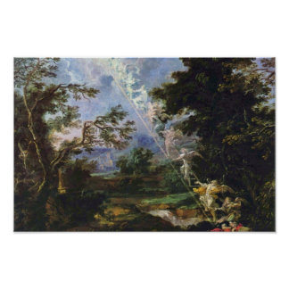 German Landscape With The Dream Of Jacob Print