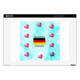 """German Language And Flag Design 15"""" Laptop Skin"""