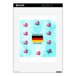German Language And Flag Design Decal For The iPad