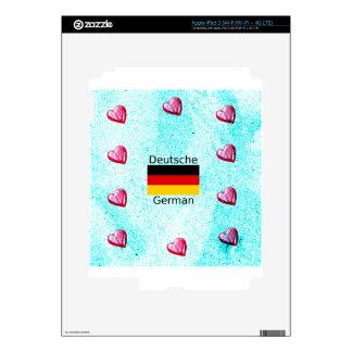 German Language And Flag Design iPad 3 Skins
