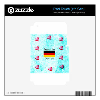 German Language And Flag Design iPod Touch 4G Decal