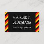 [ Thumbnail: German Language Expert Business Card ]