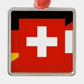 German Language Flag Metal Ornament