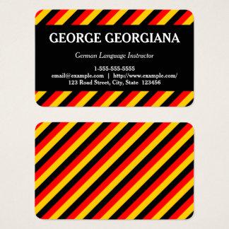 German Language Instructor Business Card