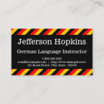 [ Thumbnail: German Language Instructor Business Card ]