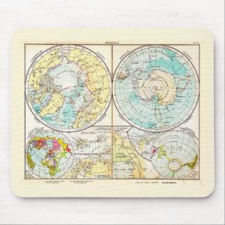 German-Language Polar Map Mouse Pads